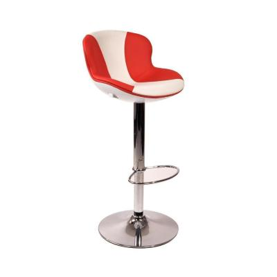 tabouret de bar blanc rouge x2 golf