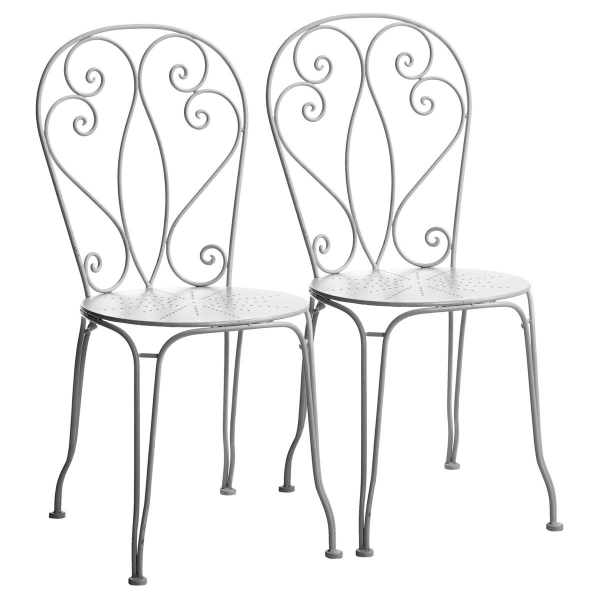Chaise Fer Forgé Et Bois chaise en fer forgé mireille, jardin d'autrefois - chaises