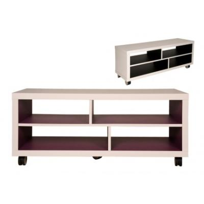 meuble tv blanc roulettes meubles tv hifi meubles de. Black Bedroom Furniture Sets. Home Design Ideas