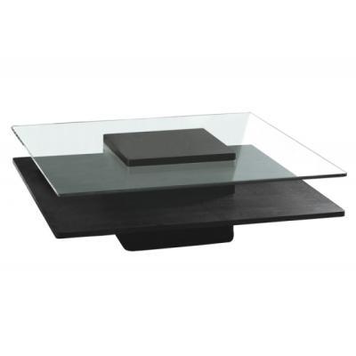 Table basse deux plateaux tables basses en verre for Table basse de salon en verre