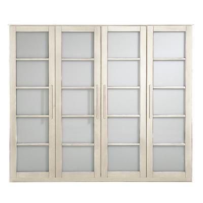 Bois et plexi armoire 4 portes ontario armoires design for Porte coulissante plexiglas