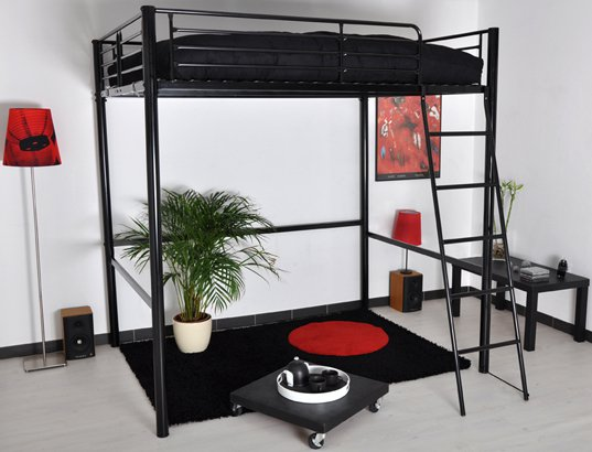 structure mezzanine 2 places lits mezzanines pour gagner de la place lits s lection. Black Bedroom Furniture Sets. Home Design Ideas