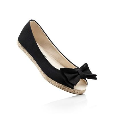lace up in get online closer at Ballerine avec nœud - Chaussures noires femme - Chaussures ...