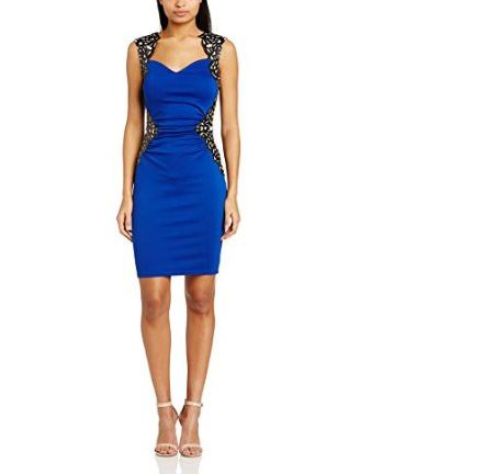 Robe de soiree bleu amazon